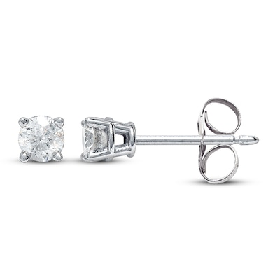 Diamond Earrings 3/4 ct tw Round-cut 14K White Gold