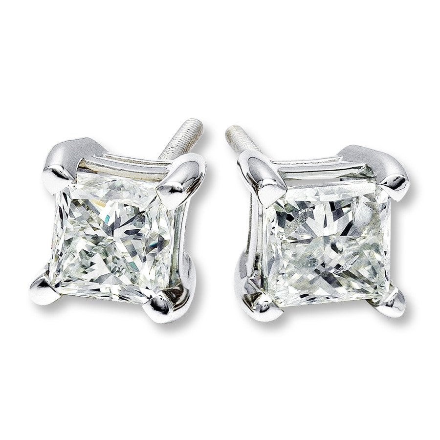 halo gold white jewelry stud princess square in wg earring cut nl diamond earrings with
