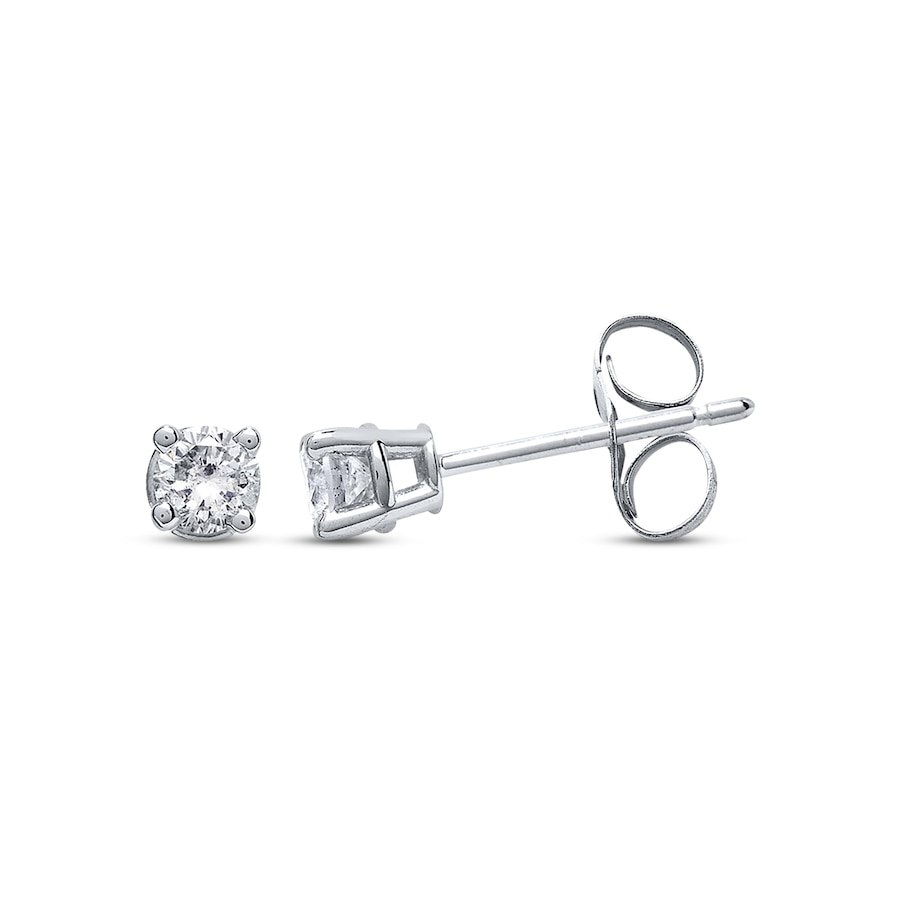Kay Diamond Earrings 1 4 Ct Tw Round Cut 14k White Gold