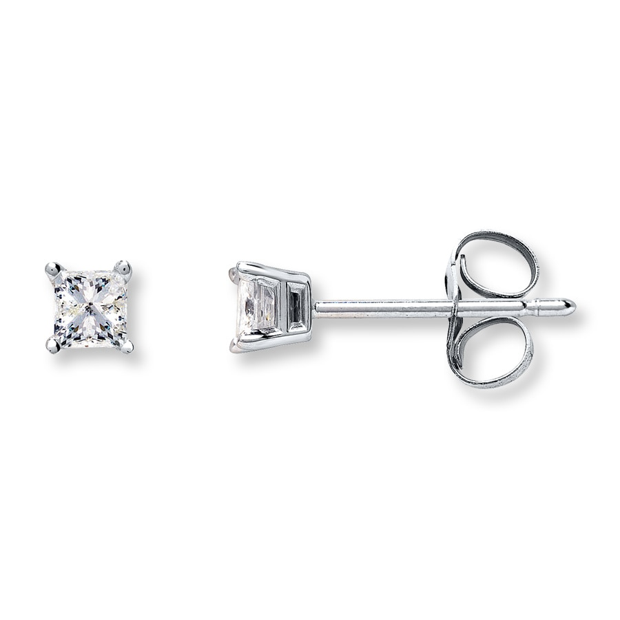 stud t ip diamond carat w earrings round sterling com silver walmart