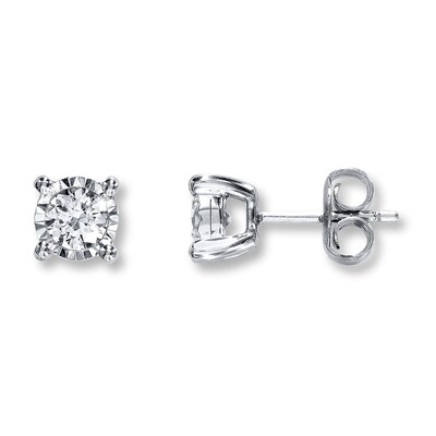 Radiant Reflections 1/2 ct tw Diamonds 10K White Gold Earrings
