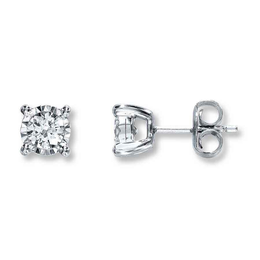 Radiant Reflections 1 2 Ct Tw Diamonds 10k White Gold Earrings Tap To Expand