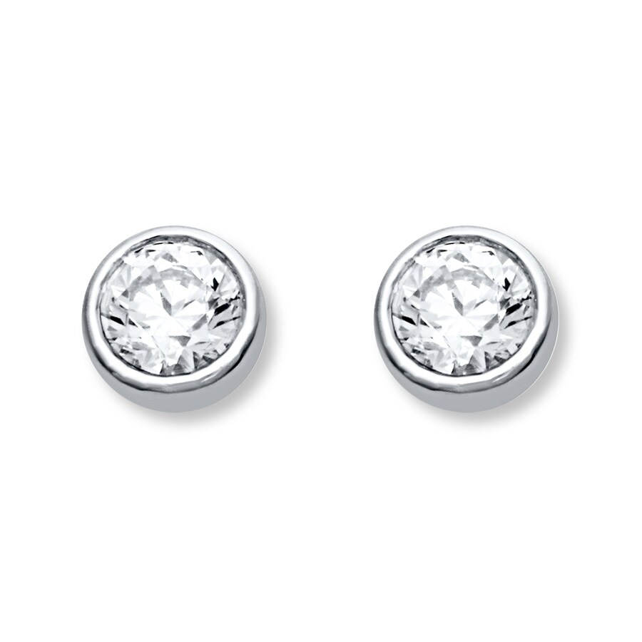 lab earrings bezel made lever solitaire set diamond back leverback
