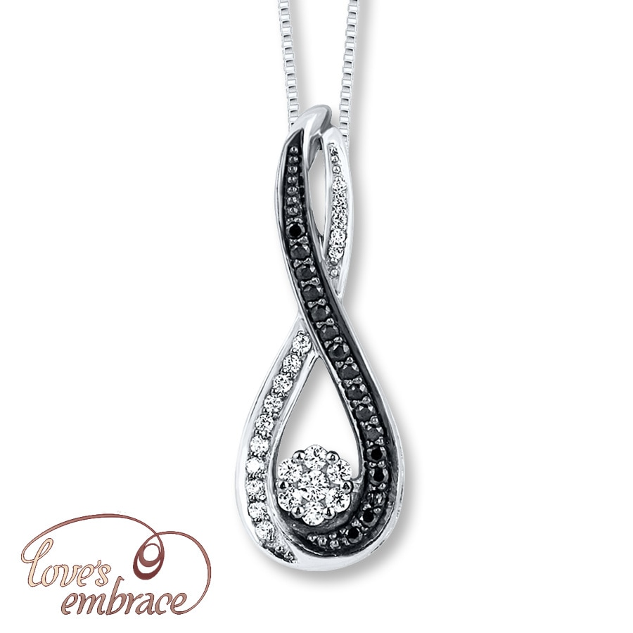 blackened bb black bkd white gold pendant mander crossings diamond products diamonds jewelry