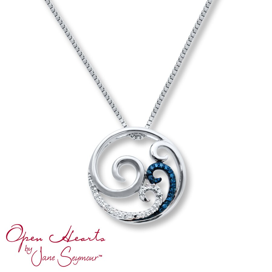 necklace silver beach custom sand wave ocean chain pendant sterling jewelry with