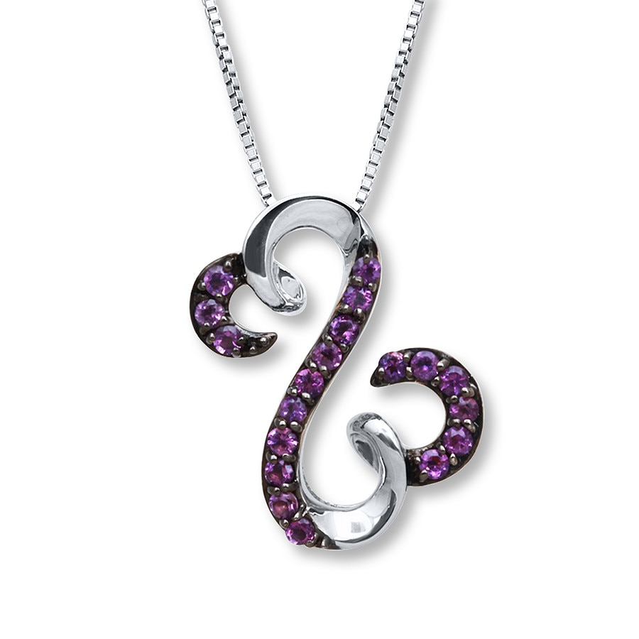 swarovski necklace fashion women purple gifts romantic ancreu heart com birthday necklaces wife love pendant amazon jewelry for dp