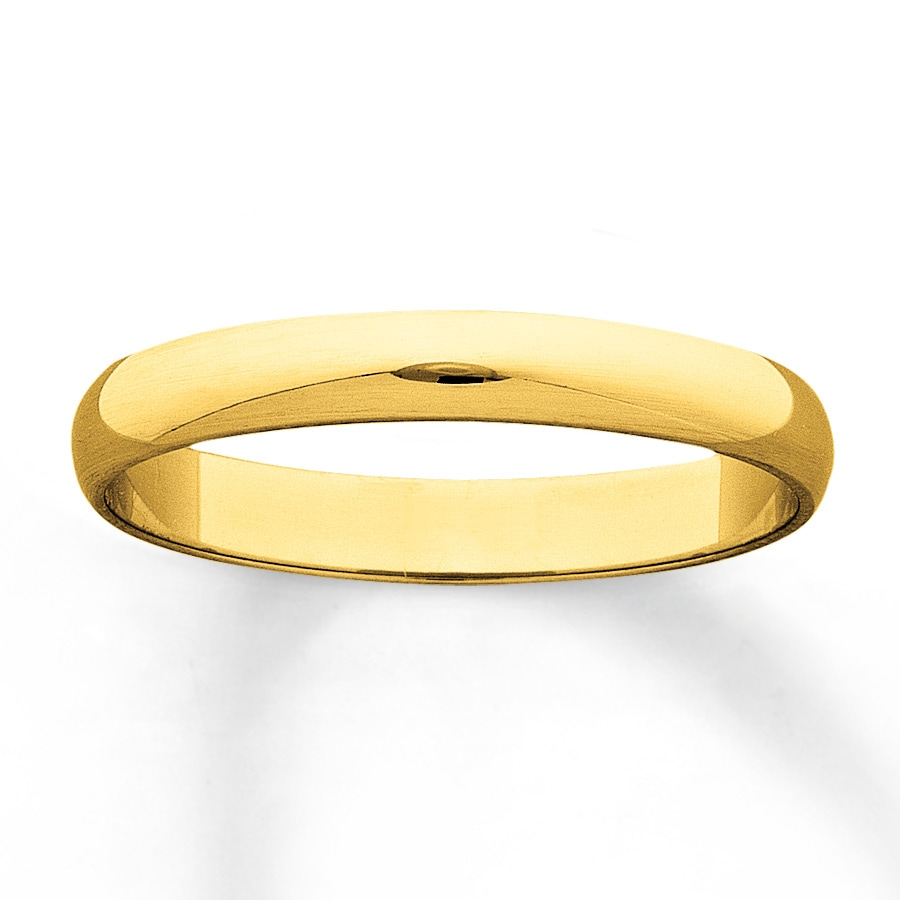 s wedding band 10k yellow gold 3mm