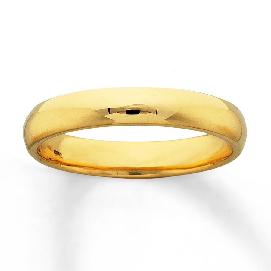 Kay Men s Wedding Band 14K Yellow Gold 4mm