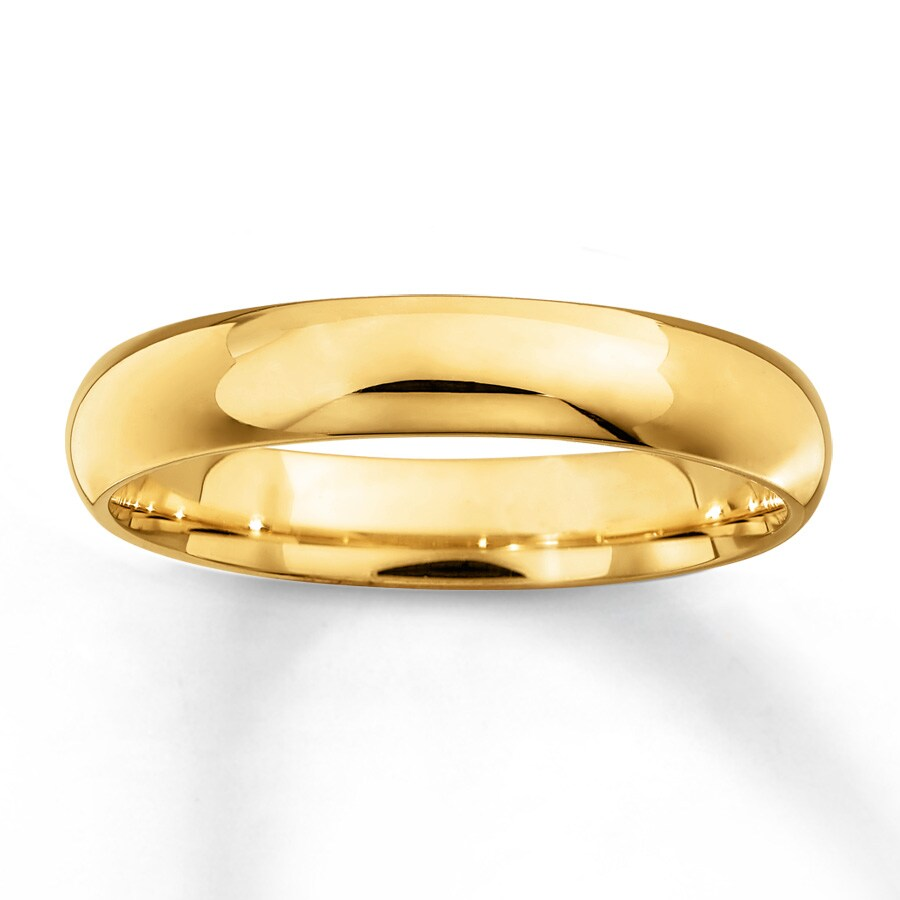 Kay Men s Wedding Band 10K Yellow Gold 4mm