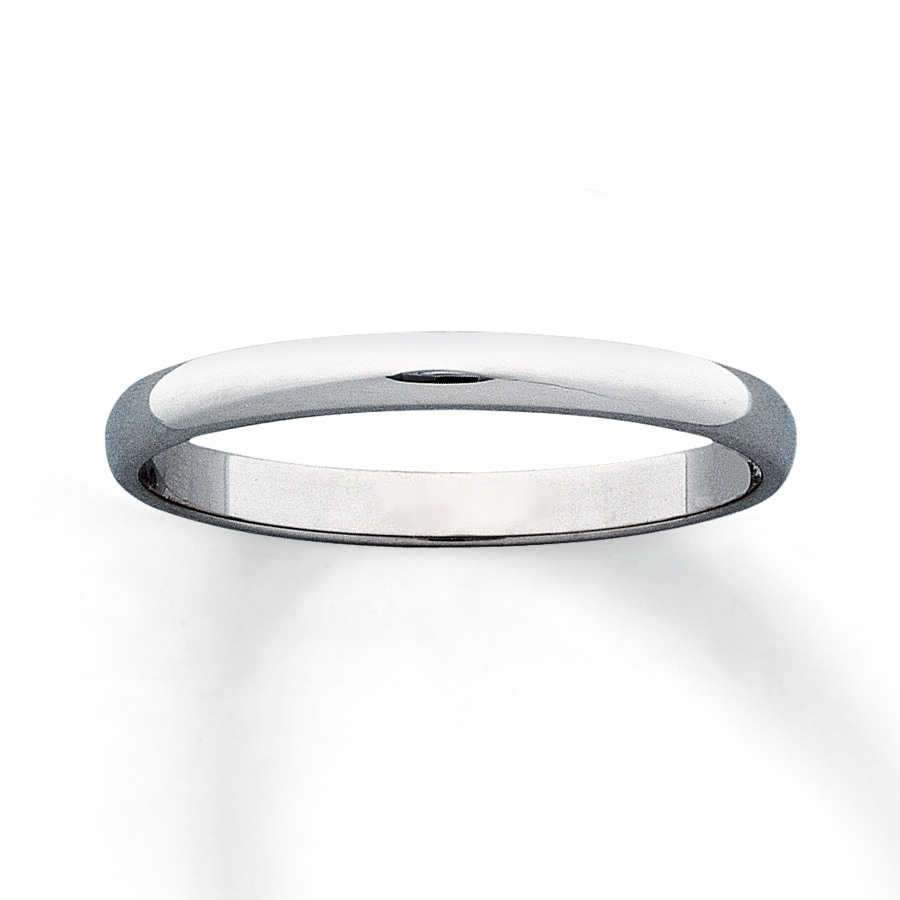 Kay Women s Wedding Band 10K White Gold 2mm