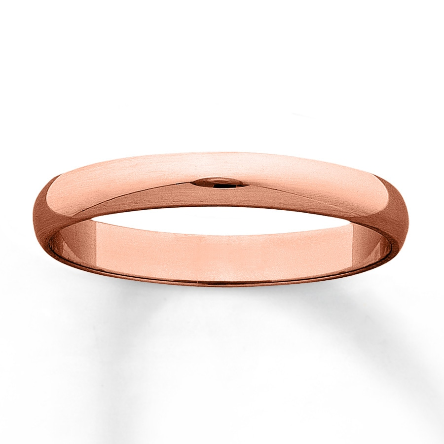Kay Men s Wedding Band 10K Rose Gold 3mm
