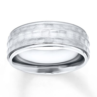 Mens Wedding Band Stainless Steel 8mm