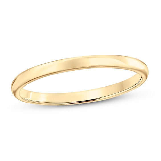 Wedding Band 10K Yellow Gold 2mm