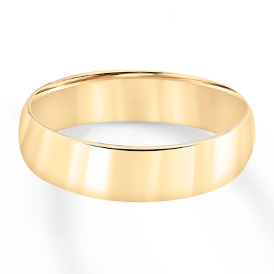 Wedding Band 10K Yellow Gold 6mm