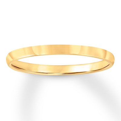Wedding Band 14K Yellow Gold 2mm