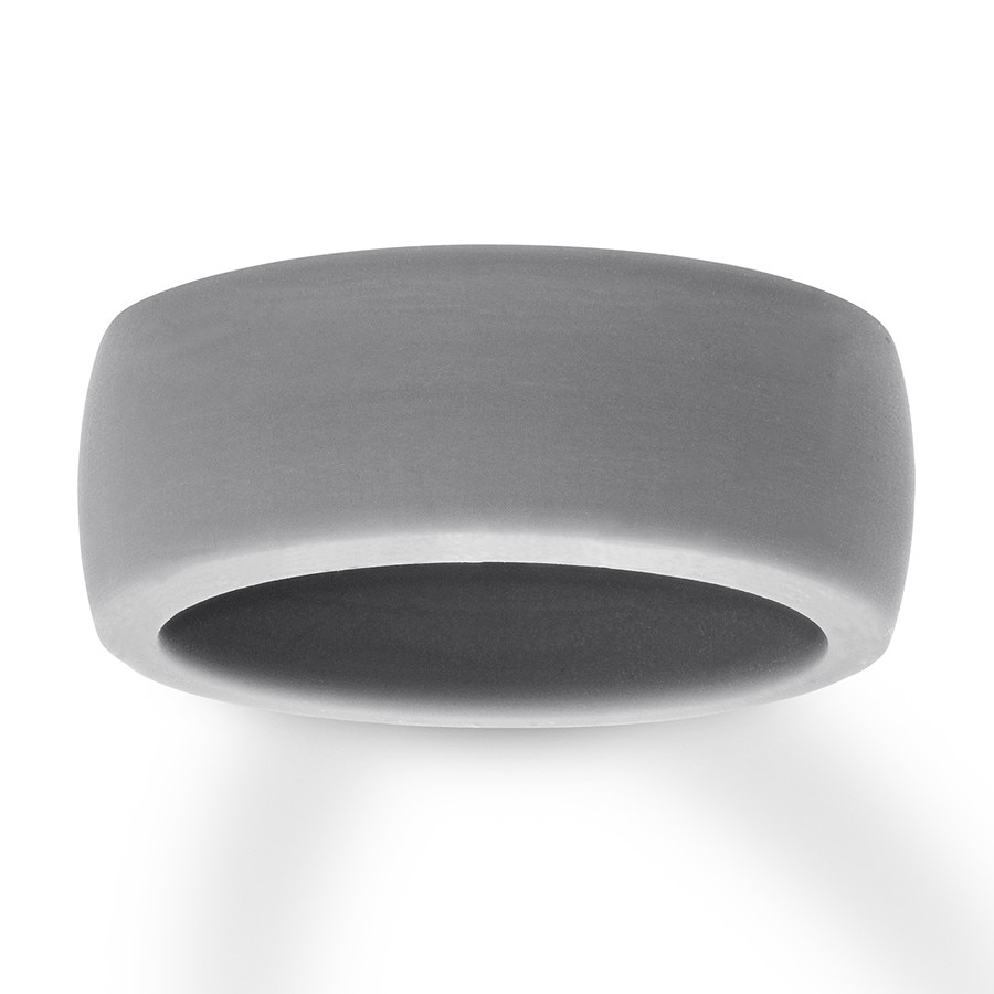 Silicone Wedding Ring.Men S Gray Silicone Wedding Band 8mm