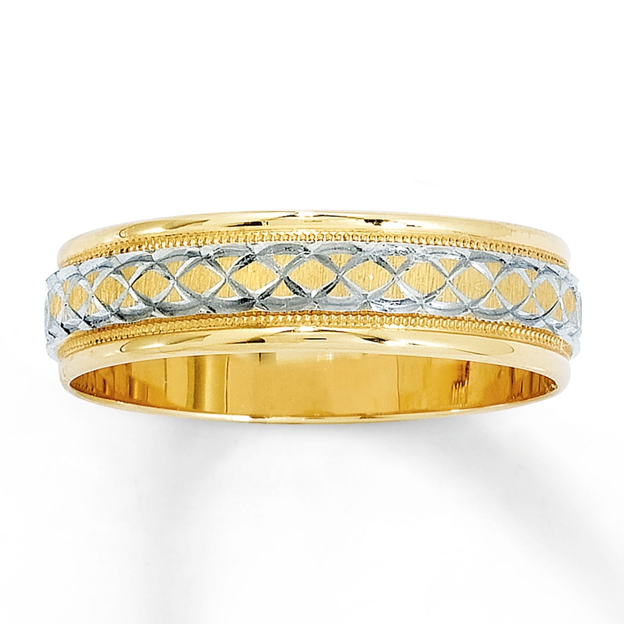 wedding band 14k yellow gold 6mm