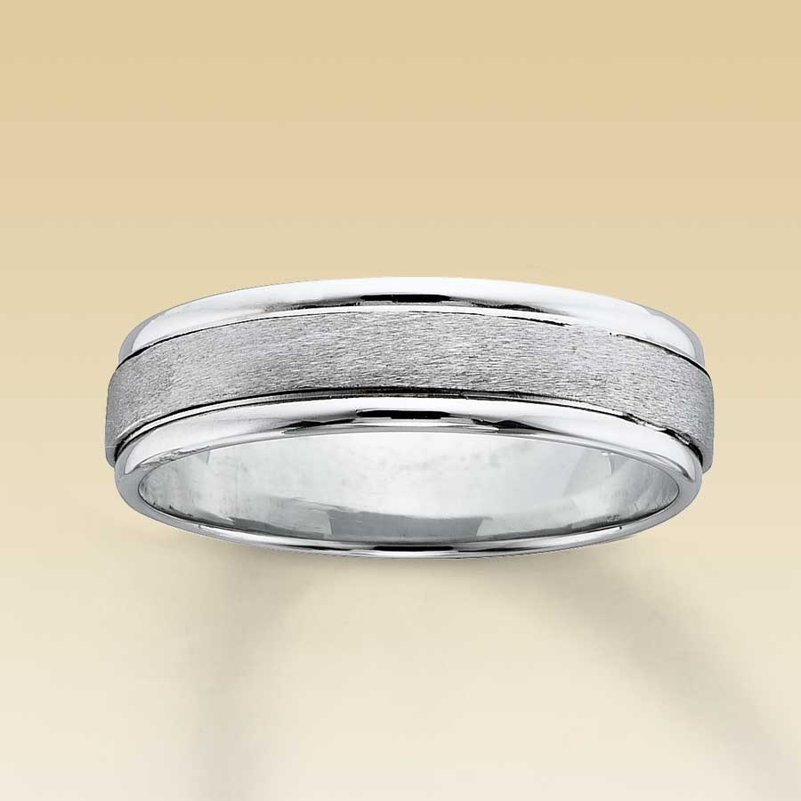 White Gold Wedding Bands For Him