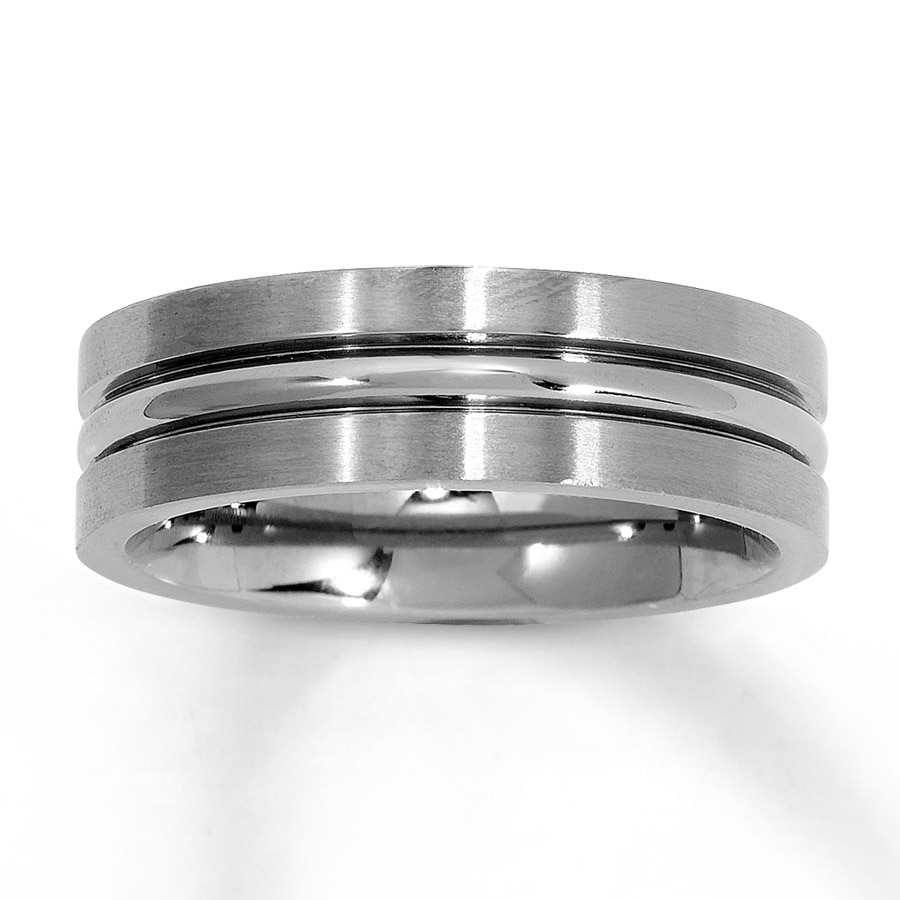 Email Men's Wedding Band Titanium
