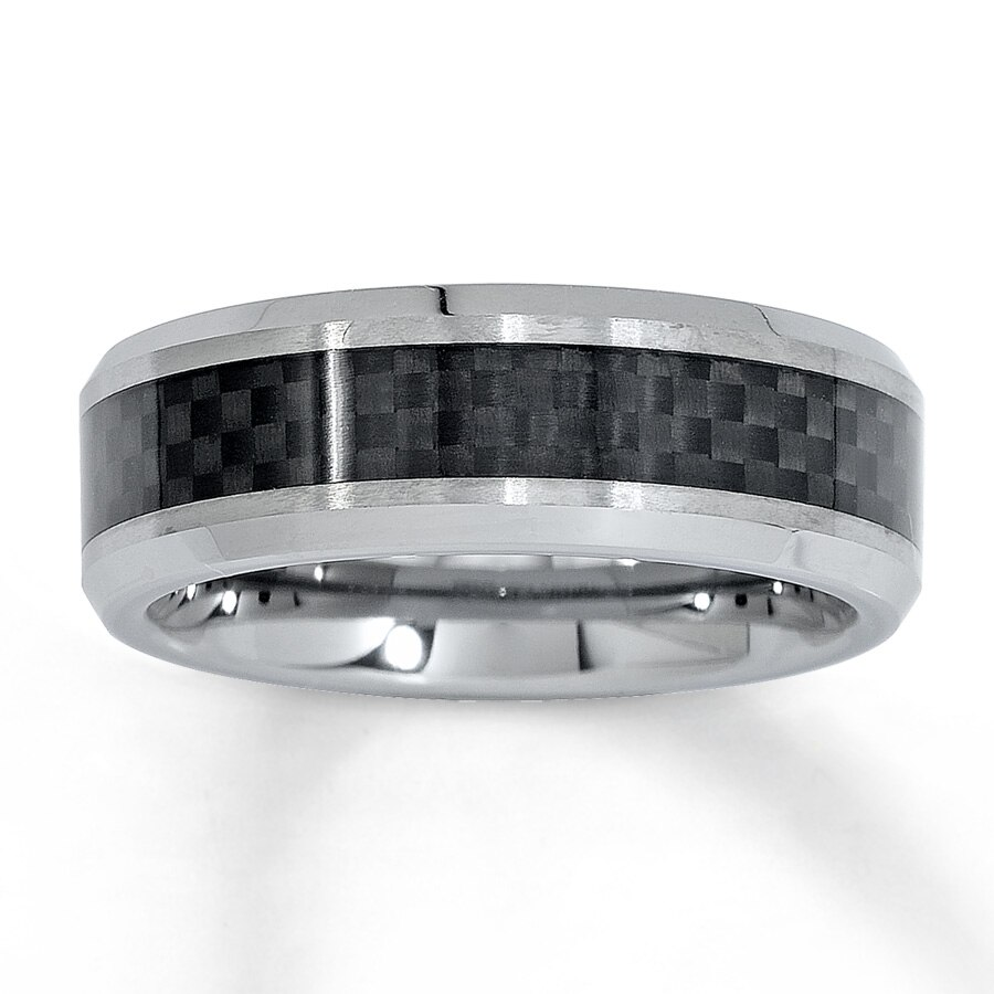 hover to zoom - Tungsten Mens Wedding Rings