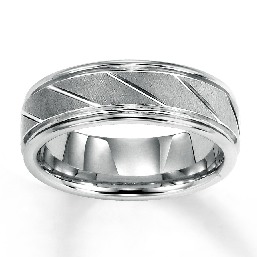 Kay Men s Wedding Band White Tungsten Carbide 7mm