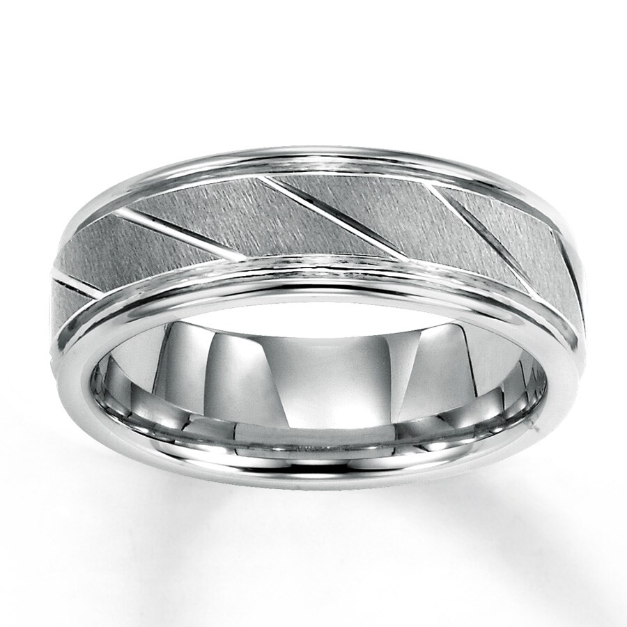 s wedding band white tungsten carbide 7mm