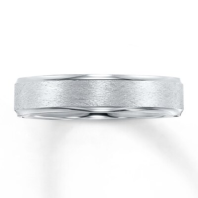 Wedding Band 10K White Gold 5mm