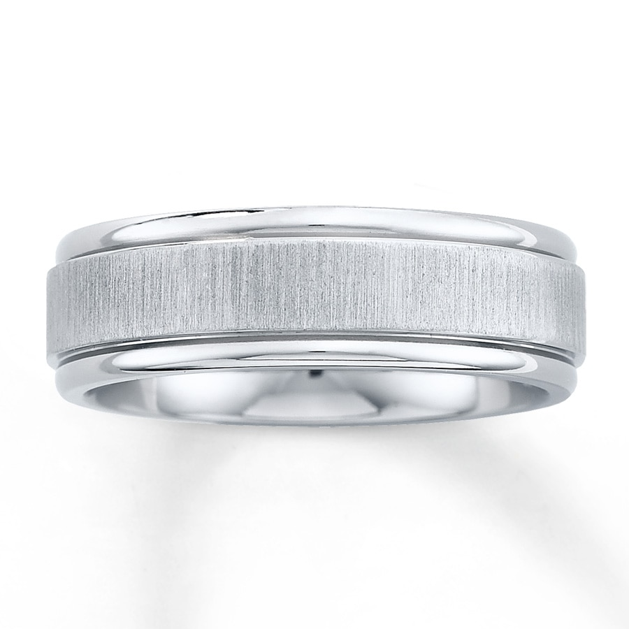 wedding band titanium 7mm