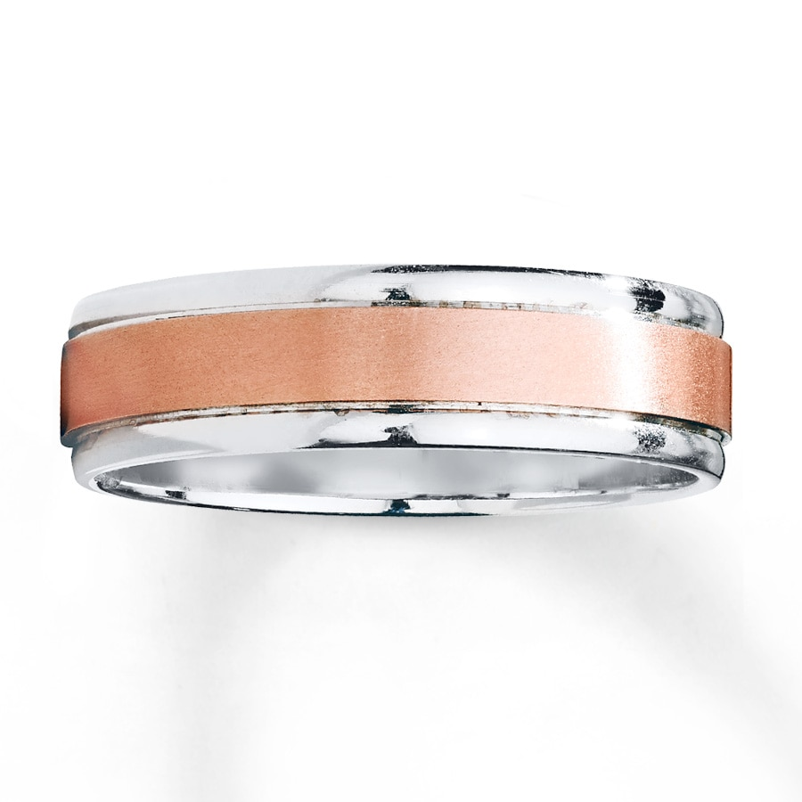 Kay Wedding Band 10K Two Tone Gold 6mm