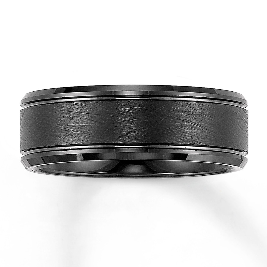 Triton Wedding Band Black Tungsten Carbide 8mm 25231670299 Kay