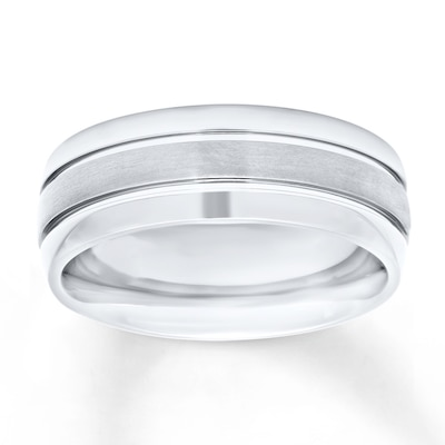 Mens Wedding Band Titanium 8mm