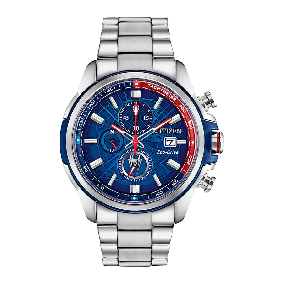 Citizen Marvel Spider Man Chronograph Watch Ca0429 53w