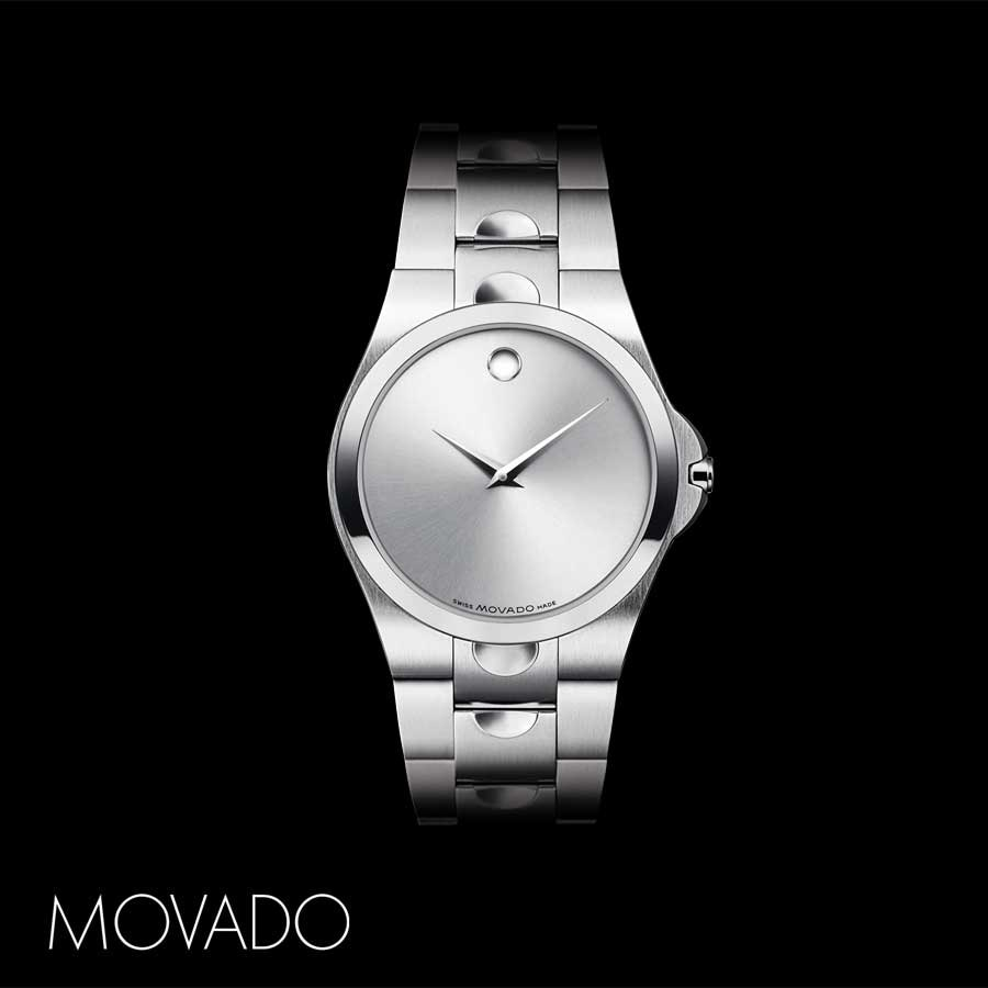 color casual womens s stainless two luno steel automatic watch amazon watches swiss women and movado dp tone com model