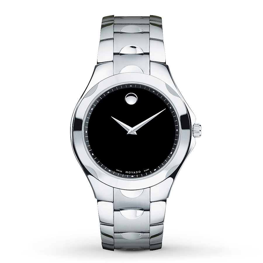of pearl dial watch movado white mother luno watches ladies