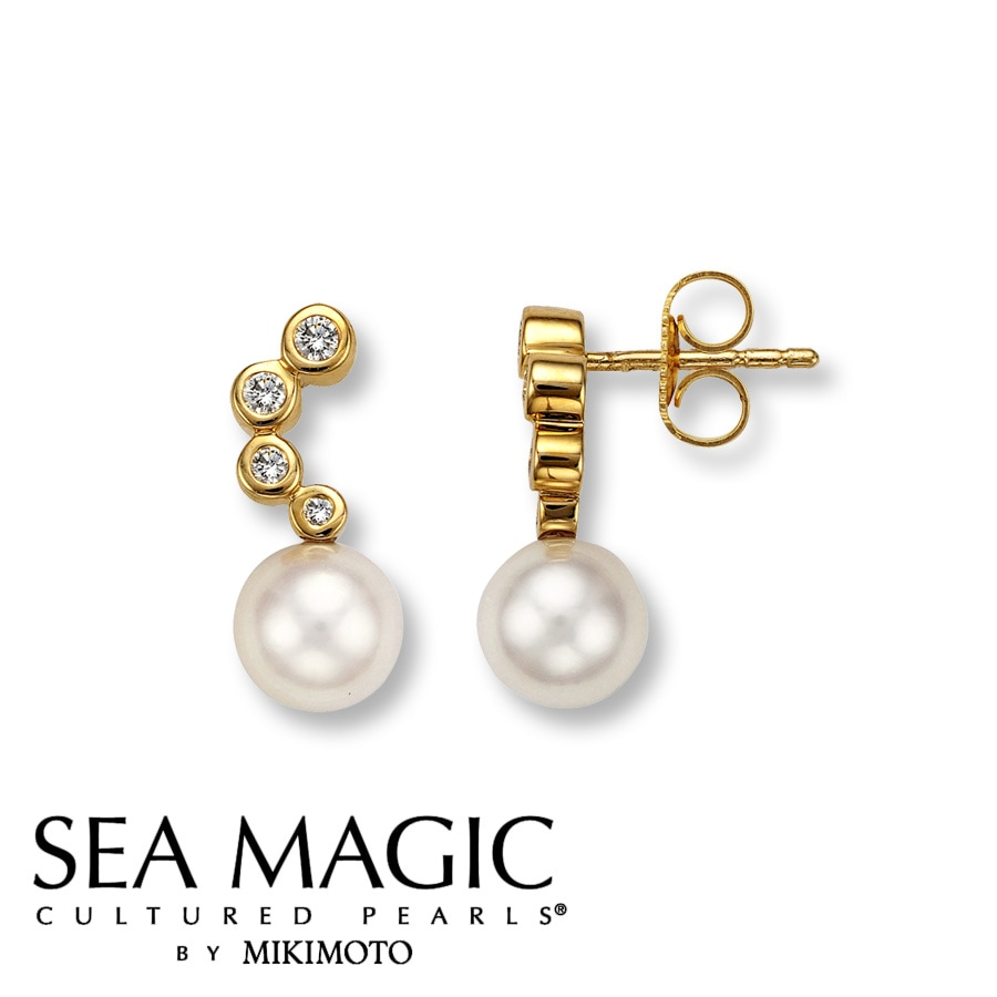pearl items mabe diamond catphoto mikimoto earrings gold item