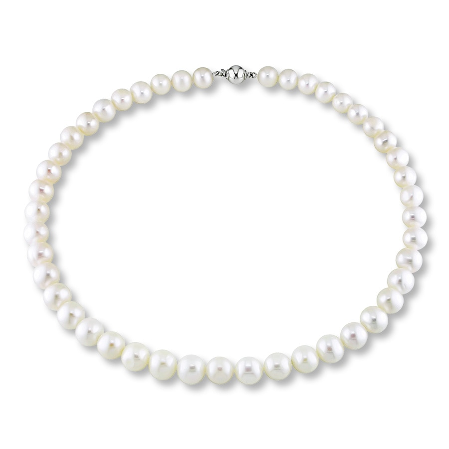 Cultured Pearl Necklace Sterling Silver 350646408 Kay