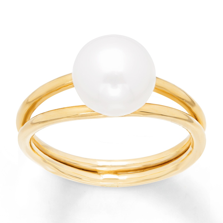 Kay Cultured Pearl Ring 10K Yellow Gold