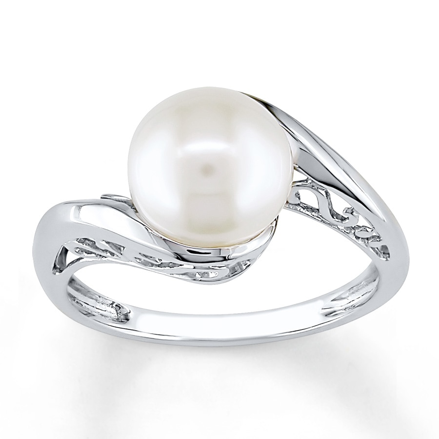 Kay Cultured Pearl Ring 10K White Gold
