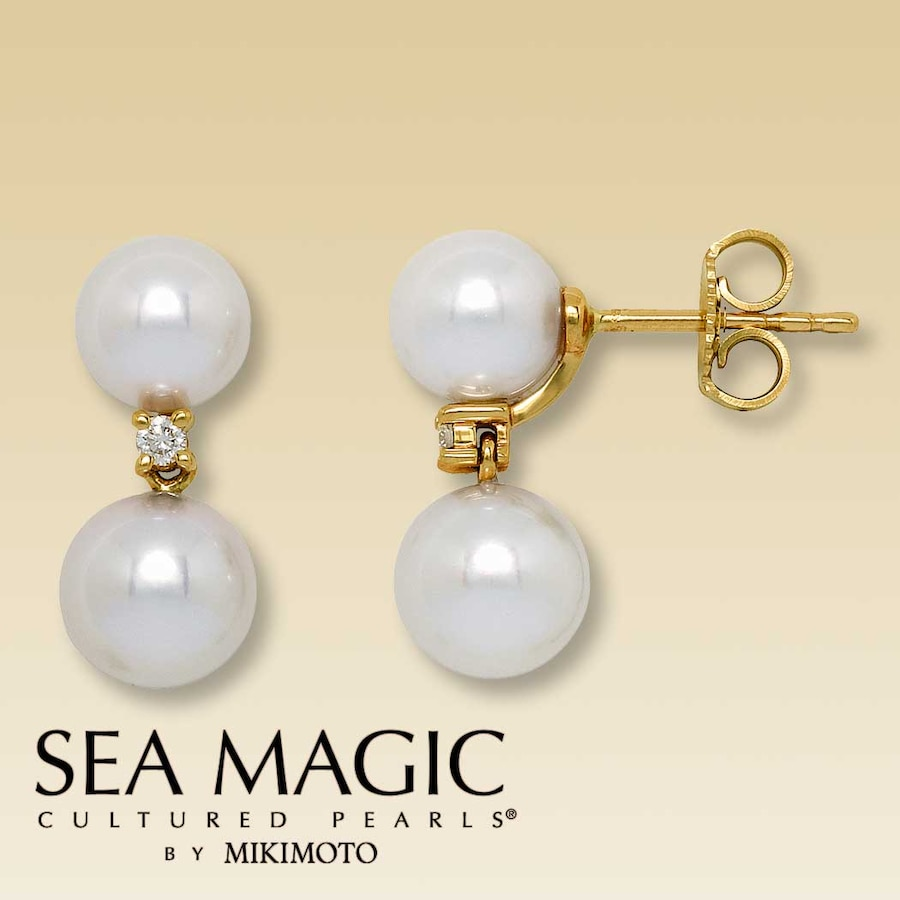 black america sku earrings baroque mikimoto dangling pearl sea south