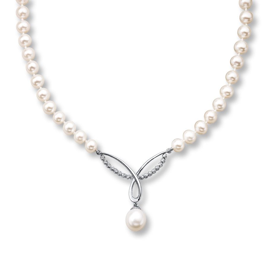 Kay Cultured Pearl Necklace Sterling Silver