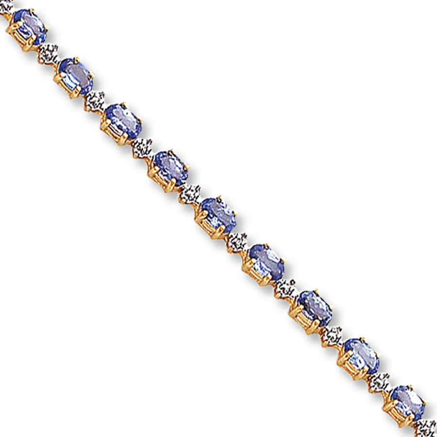 sterling jewelry yellow silver gold bracelet lock with effy tanzanite tcw