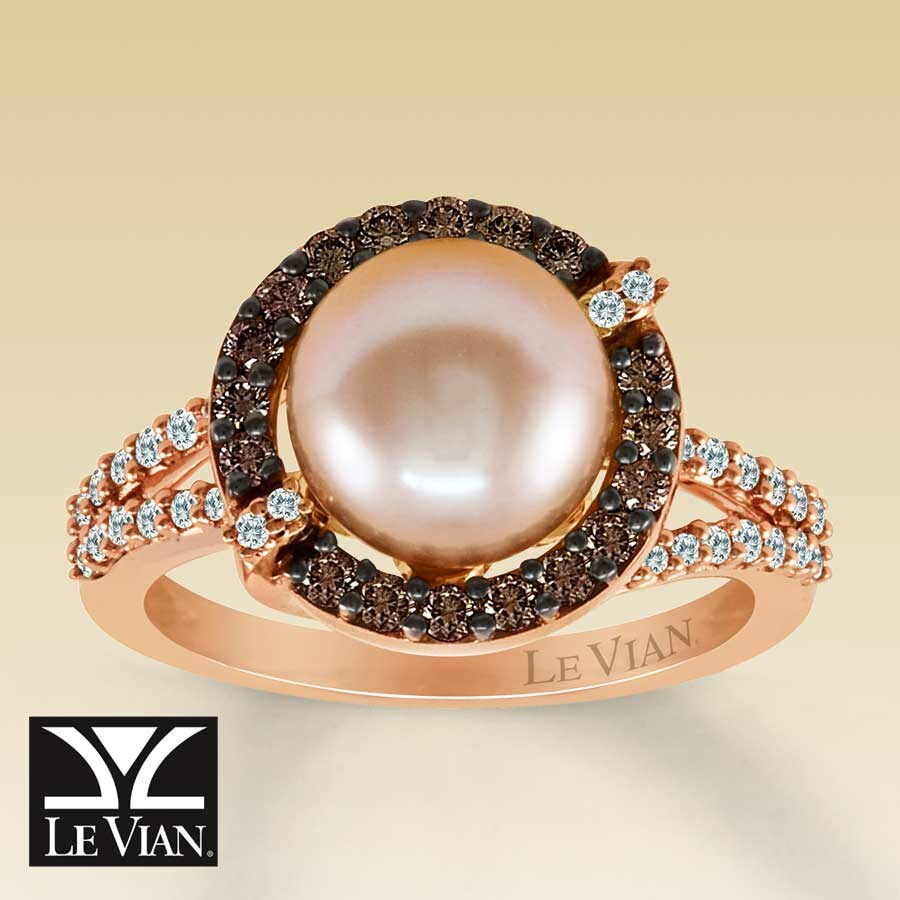 Kay Clearance Le Vian 14K Gold Diamond & Cultured Pearl Ring