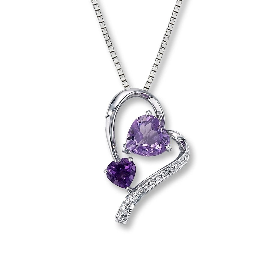 diamond sterling pendant with necklace mv purple to zoom zm kaystore kay en hover heart silver amethyst accent
