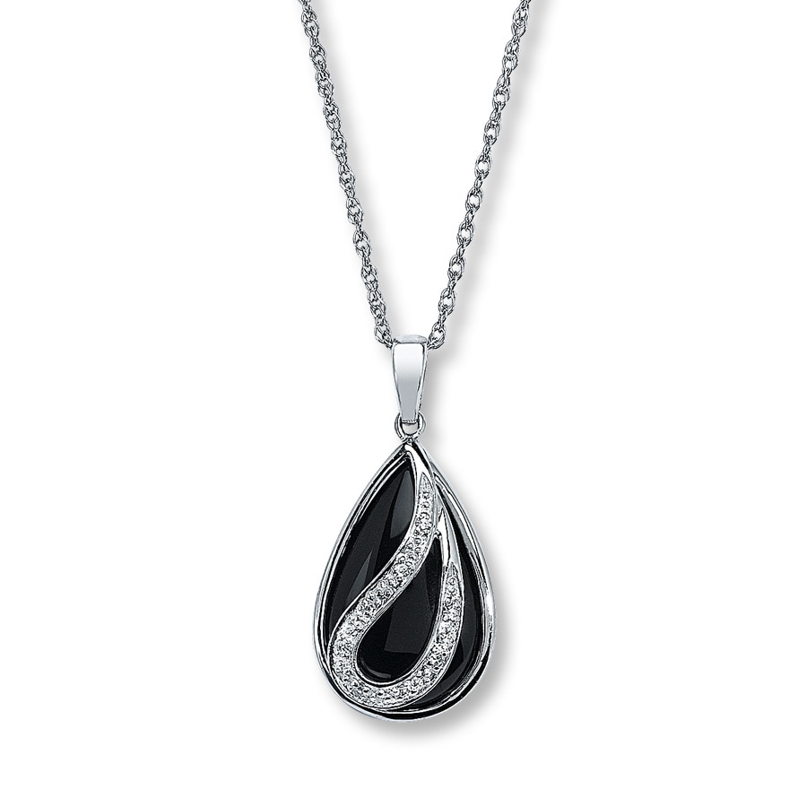 image necklace jewellery onyx products cfd black jewelry fine