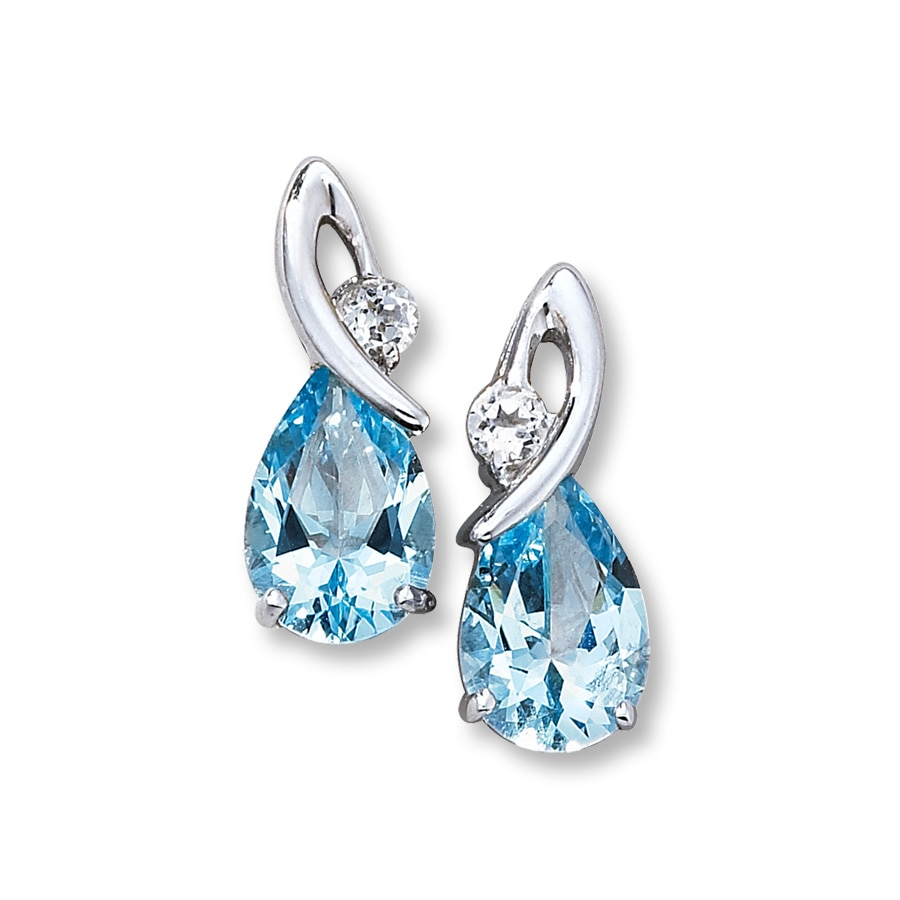 white jewelers diamond topaz kloiber jewelry earrings blue gold and item