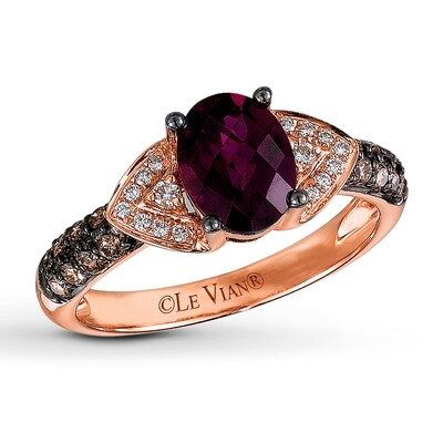 Le Vian Rhodolite Garnet 1/3 ct tw Diamonds 14K Gold Ring