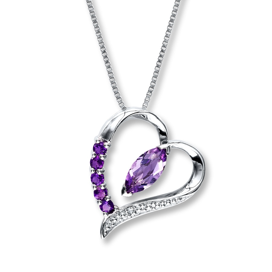 day valentines women jewelry heart pendant fashion gifts necklace dp for diamond neemoda cubic zirconia amazon birthday anniversary com purple