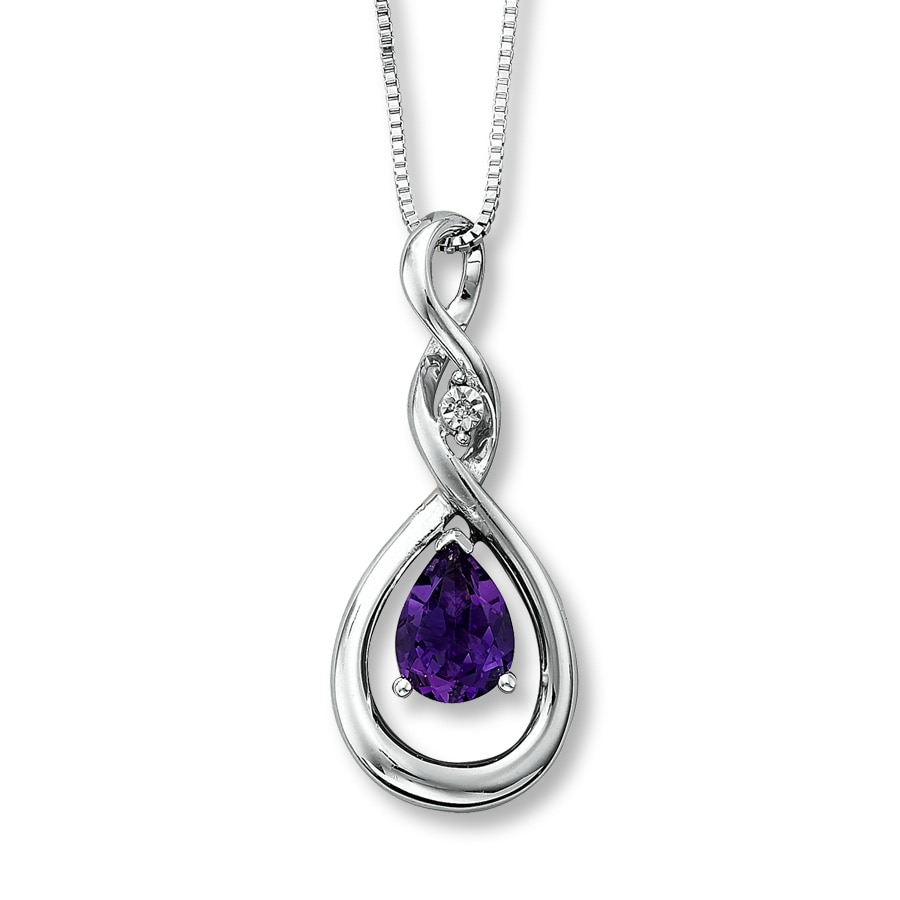 Kay amethyst necklace diamond accent sterling silver amethyst necklace diamond accent sterling silver aloadofball Gallery