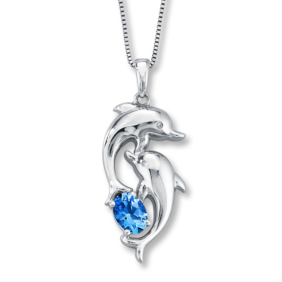 to pendant diamond sterling necklace kaystore cut mv dolphin tw zm en hover kay ct silver zoom round