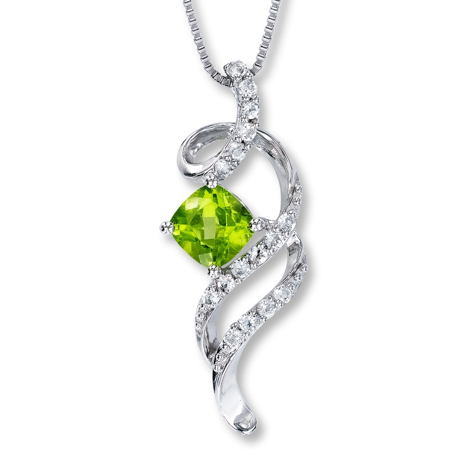 necklace with crystal peridot zoom destiny swarovski